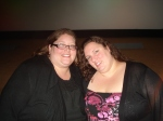 Hanging with my friend Heather at a Houston Screening of America the Beautiful 2 - the Thin Commandments