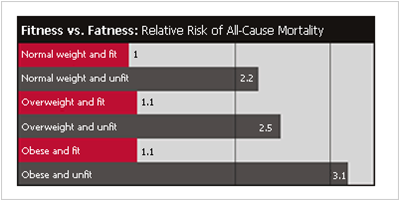 Fitness vs Fatness graph