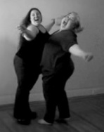 Belly Bump with one of my heroes - Marilyn Wann