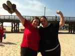Jeanette Depatie (www.thefatchick.com) and me atthe finish line of Fit Fatties Across America