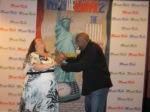 High fiving wilth filmmaker Darryl Robertsat the LA premiere of America the Beautiful 2 - The Thin Commandments