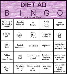 Diet Ad Bingo