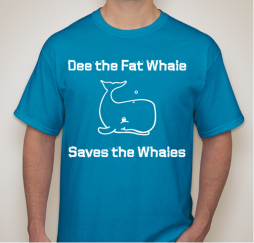 Dee the fat whale shirt