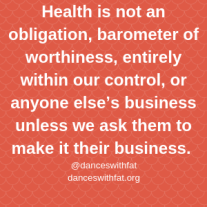 Health is not an obligation