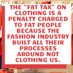 the fat tax on clothing